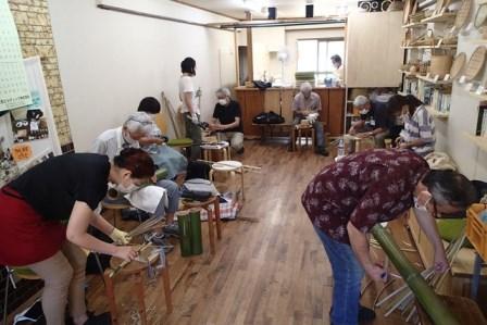 8月の竹細工工房