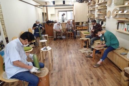 9月の竹細工工房