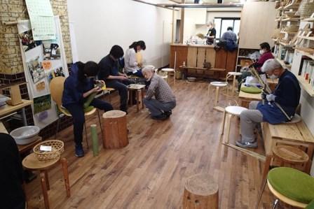 10月の竹細工工房
