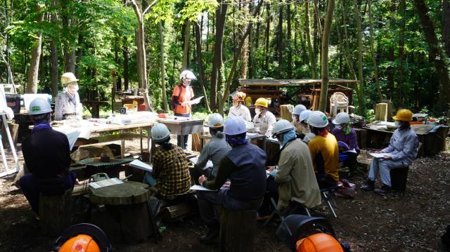 森づくり活動レベルアップ研修step1(手道具の扱い方)報告