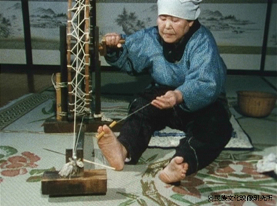 「からむしと麻」(1988年55分民族文化映像研究所制作)